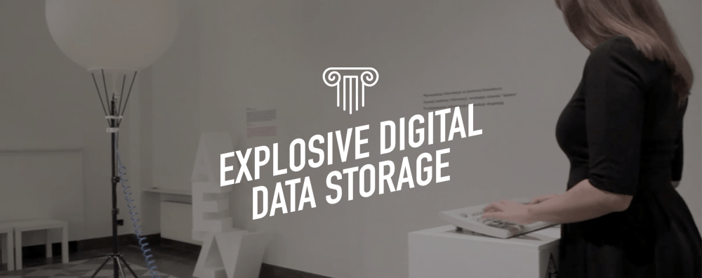 Explosive Digital Data Storage