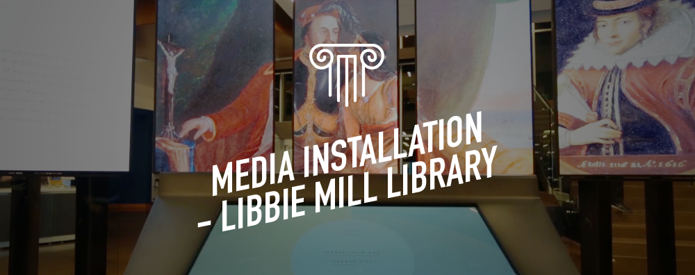 Media Installation - Libbie Mill Library