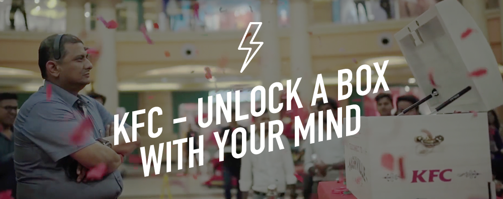 KFC Unlock a box with your mind